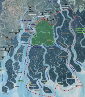 Map of Sunderbans