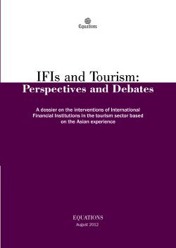 IFIs and Tourism: Perspectives and Debates 2012